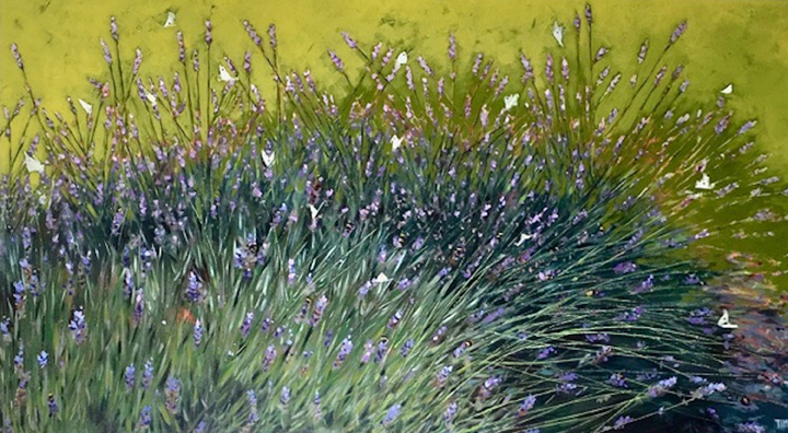 'August Lavender, painting by Lisa Timmerman