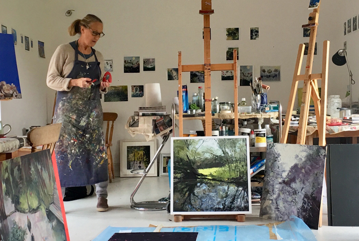 Lisa Timmerman in her studio