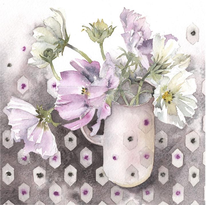 Vivienne Cawson, 'Cosmos in a Pink Jug'