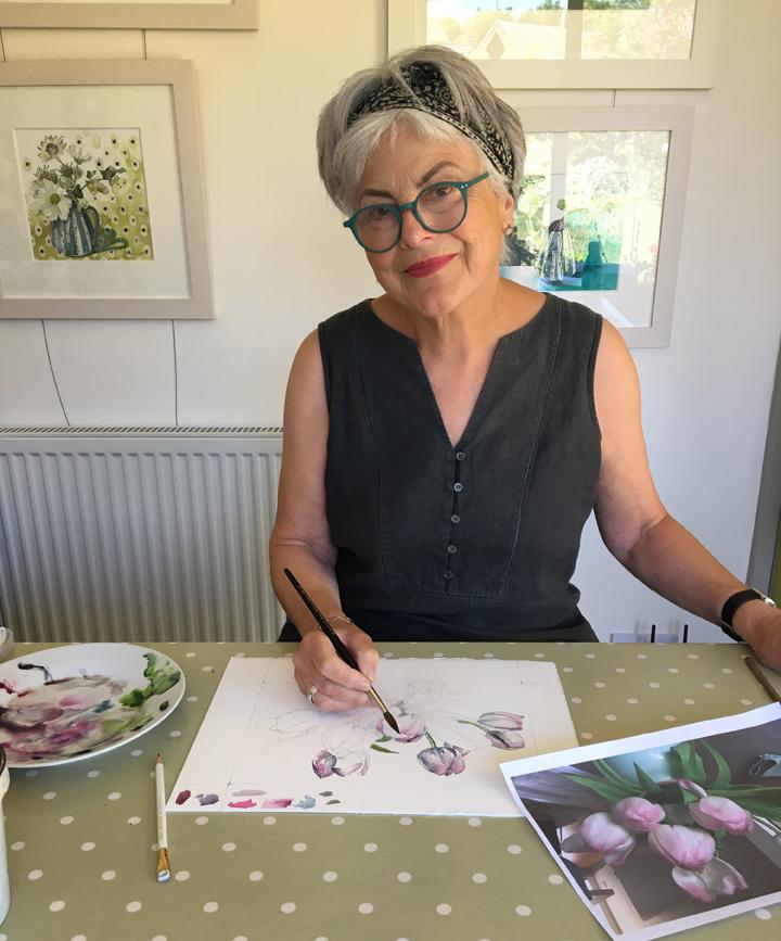 Vivienne Cawson in her studio