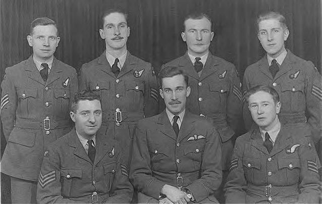 Photograph of the crew of the Halifax Bomber