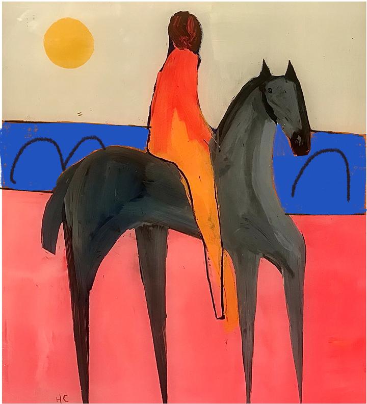 Henrietta Corbett, Grey Horse on Pink Land