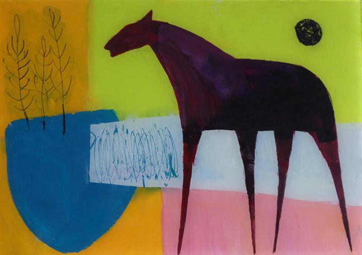 Henrietta Corbett, Horse with Pink Field