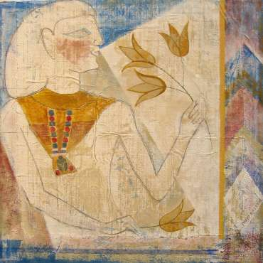 Thumbnail image of David Easton, 'Lotus and Figure' - Project 2006 - New Art Inspired By The Museum's Ancient Egyptian Collection