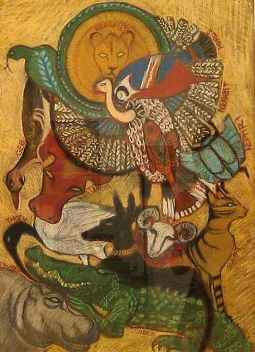 Thumbnail image of Kathie Layfield, 'Sacred Bestiary' - Project 2006 - New Art Inspired By The Museum's Ancient Egyptian Collection