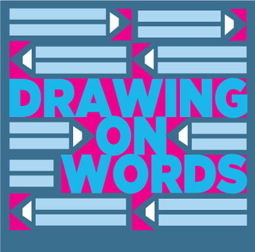 Drawing on Words logo designed by Christopher Bent