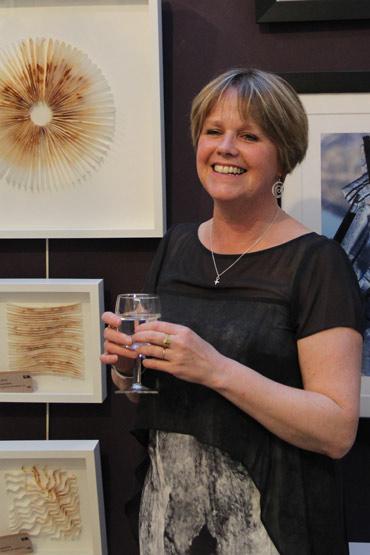 Deborah Bird at the exhibition preview