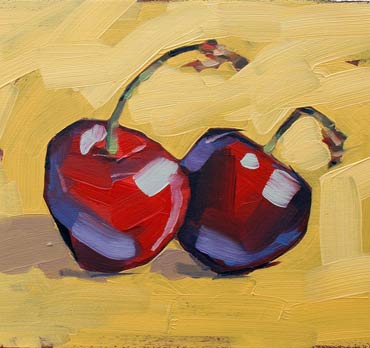 Cherries - painting by Jane French