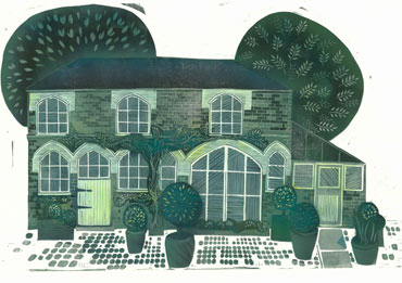 Linoprint by Sarah Kirby