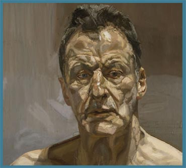 Painting by Lucien Freud included in poster by LEAC for this course
