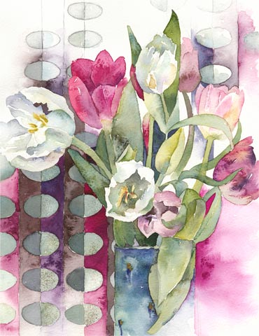 Margo's Tulips, a painting by Vivienne Cawson