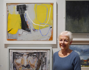 Thumbnail image of Catherine Headley, Henton Ellis Prize winner, with 'Carn and Gorse' - Annual Exhibition 2016 - Prizes