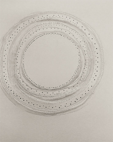 Punctured paper work by Gillian Adair McFarland