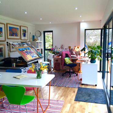 Photograph of Mikki Longley's studio