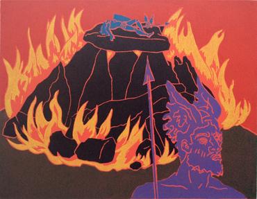 Linocut by Phil Redford