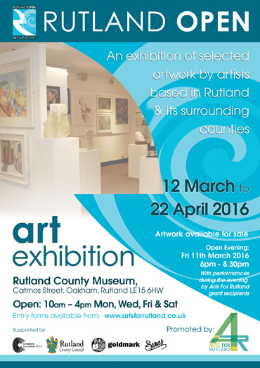 Rutland Open Art Exhibition poster (detail)