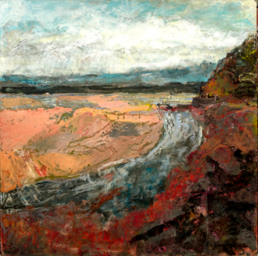 Thumbnail image of Alan Hopwood, 'Low Tide Across St Austell Bay', mixed media on board - LSA Annual Exhibition 2017 Prize Winners