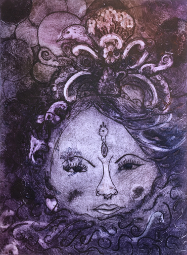 collograph by Jane Sunbeam