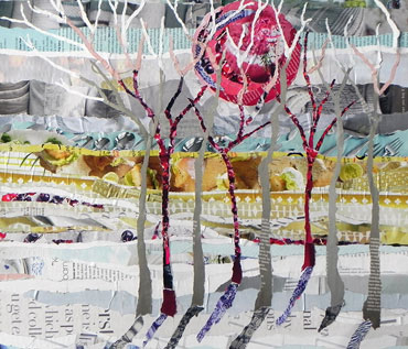 WINTER LANDSCAPE - collage workshop - Danielle Vaughan