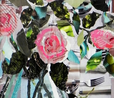 ROSES - collage workshop -Danielle Vaughan