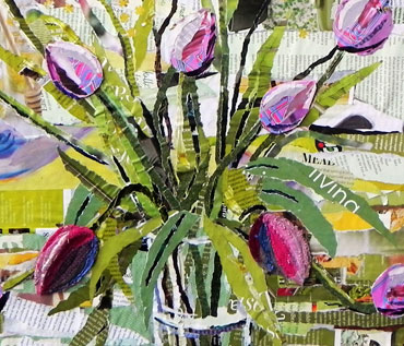SPRING FLOWERS & VASES - Collage Workshop - Danielle Vaughan