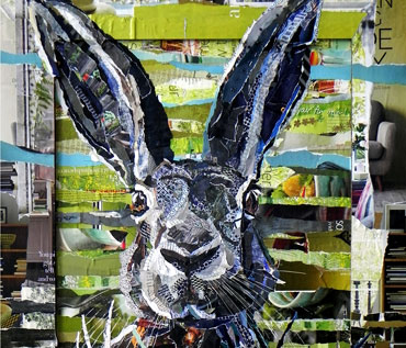 MAD MARCH HARES - collage workshop -Danielle Vaughan