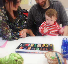 Photograph of children's art session