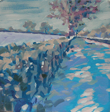 Winter Landscape painting by Jane French