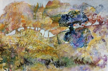 Mixed media painting by Jo Sheppard