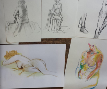 student life drawings