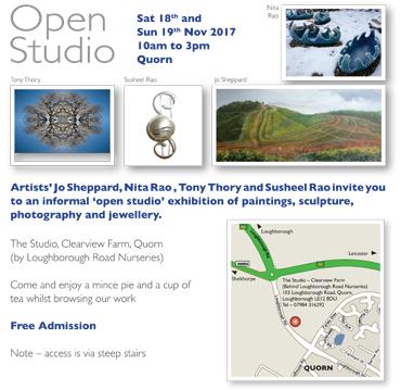 Jo Sheppard open studio poster