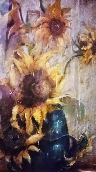 Thumbnail image of Linda Sharman - Sunflowers - A PASSION FOR PASTEL - Leicestershire Pastel Society