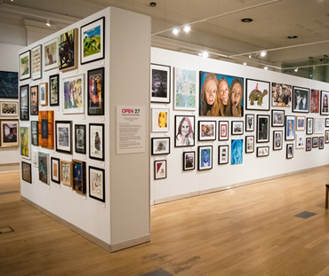 Photograph of the Open Exhibition Leicester