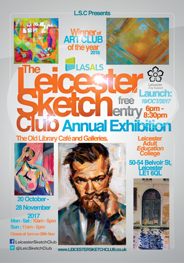 Leicester Sketch Club poster