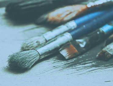 Photgraph of artists brushes