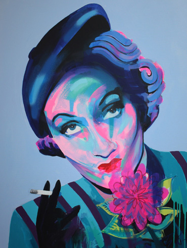 'Marlene Dietrich' painting by Tim Fowler