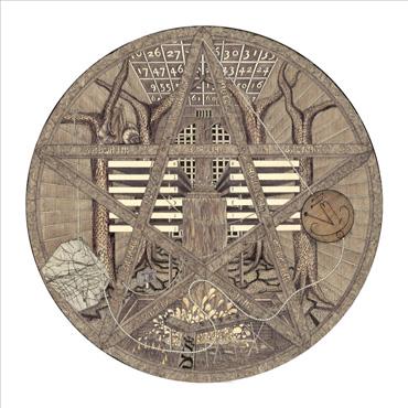 Thumbnail image of Trevor Bent, 'Looking through the Pentagram' [framed] - Stars - Art Auction Evening