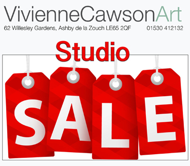 Vivienne Cawson studio sale poster