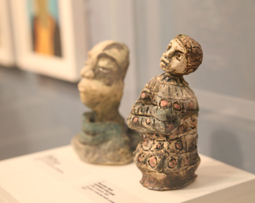Thumbnail image of Nooridin Abdi, Gateway College, 'Little Ceramic Self', ceramic coloured with underglazes - Little Selves  Exhibition Prizes