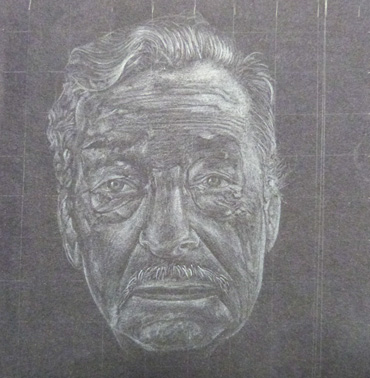 Thumbnail image of Jordan Illingworth, Robert Smyth School, Study in Black & White', pencil - Little Selves -