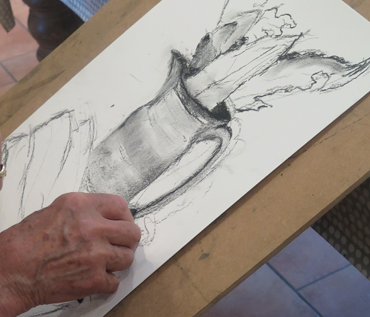 Charcoal & Pastel drawing - Jacqui Gallon workshop