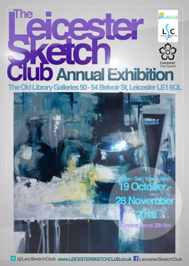 Leicester Sketch Club Annual Exhibition poster