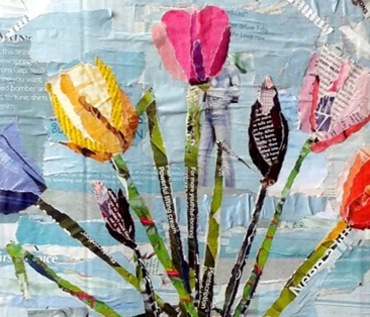Floral Collage - Ripped Paper Workshop: Danielle Vaughan