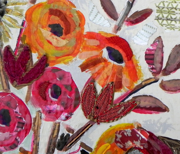 Floral Abstracts: Ripped Paper Workshop - Danielle Vaughan
