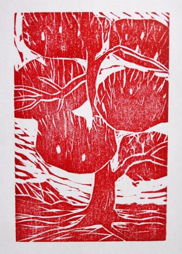 Woodblock print by Sumiko Eadon