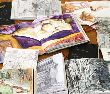 Jane Sunbeam: Sketchbooks At Cank Street Gallery