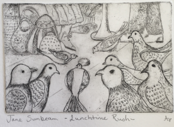 Etching by Jane Sunbeam