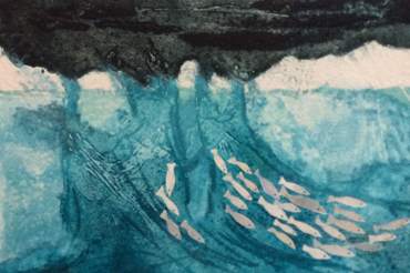 Collagraph (detail) by Jay Seabrook