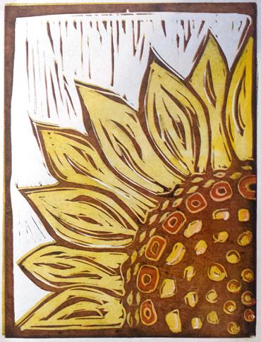 Lino print by Jo Sheppard