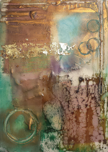 student encaustic painting